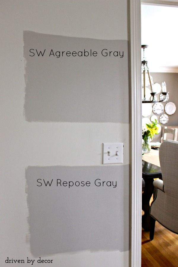 SW Agreeable Grey vs Repose Grey